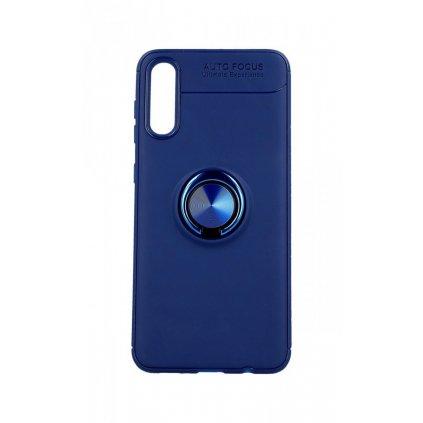 Zadný silikónový kryt na Samsung A30s modrý s modrým prsteňom