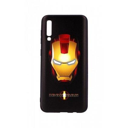 Zadný 3D silikónový kryt na Samsung A30s Iron Man