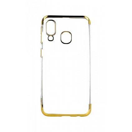 Zadný silikónový kryt na Samsung A40 Frame zlatý
