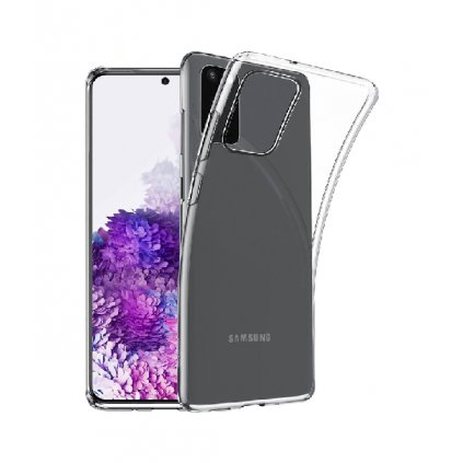 Ultratenký silikónový kryt na Samsung S20 + 0,5 mm priehľadný