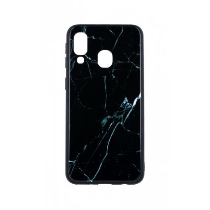 Zadný pevný kryt LUXURY na Samsung A40 Marble Grey