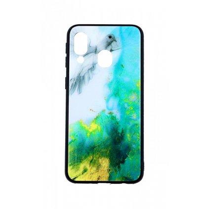 Zadný pevný kryt LUXURY na Samsung A40 Marble Green