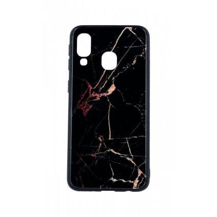 Zadný pevný kryt LUXURY na Samsung A40 Marble Dark