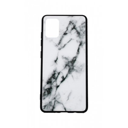 Zadný pevný kryt LUXURY na Samsung A51 Marble White