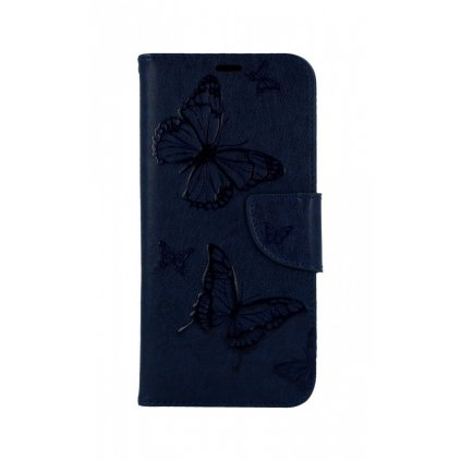 Flipové púzdro na Huawei P30 Lite Butterfly modré tmavé