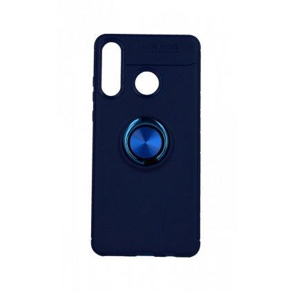 Zadný silikónový kryt na Huawei P30 Lite modrý s modrým prsteňom