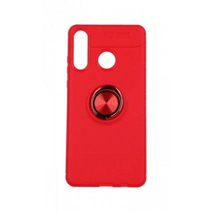 Zadný silikónový kryt na Huawei P30 Lite červený s červeným prsteňom