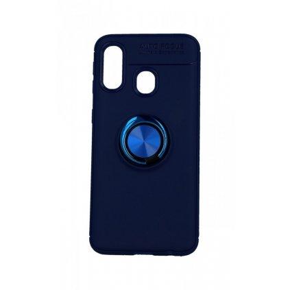 Zadný silikónový kryt na Samsung A40 modrý s modrým prsteňom