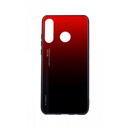 Zadný pevný kryt LUXURY na Huawei P30 Lite dúhový červený