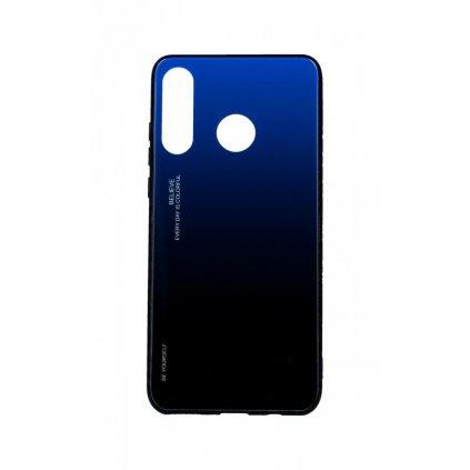 Zadný pevný kryt LUXURY na Huawei P30 Lite dúhový modrý
