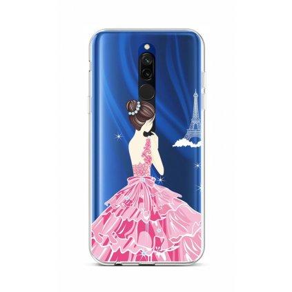 Zadný silikónový kryt na Xiaomi Redmi 8 Pink Princess