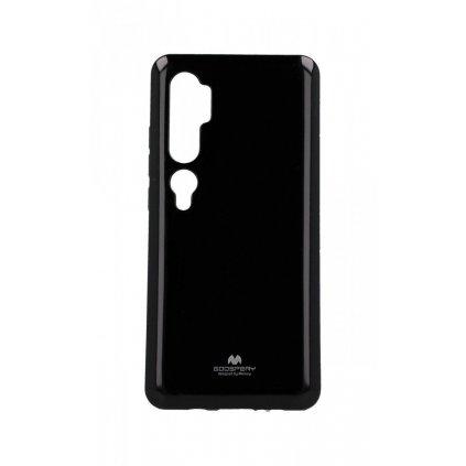 Zadný silikónový kryt Mercury Jelly Case na Xiaomi Mi Note 10 čierny