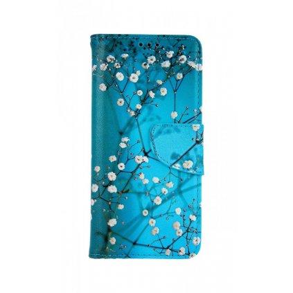 Flipové púzdro na Samsung A51 Modré s kvetmi