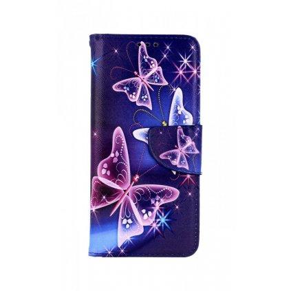 Flipové púzdro na Samsung A51 Modré s motýlikmi
