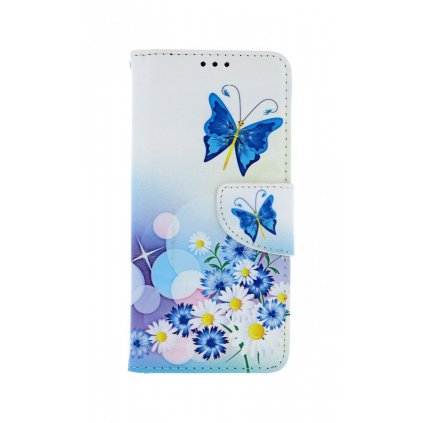 Flipové púzdro na Samsung A51 Biele s motýlikom