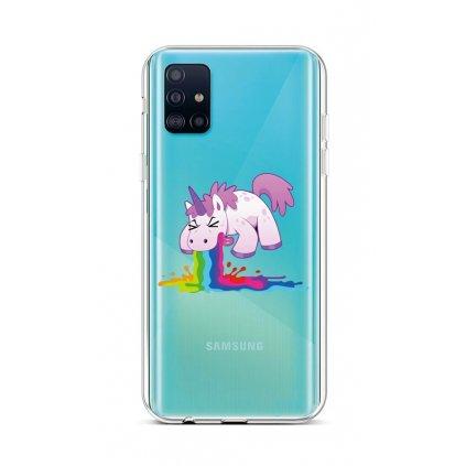 Zadný silikónový kryt na Samsung A51 Rainbow Splash