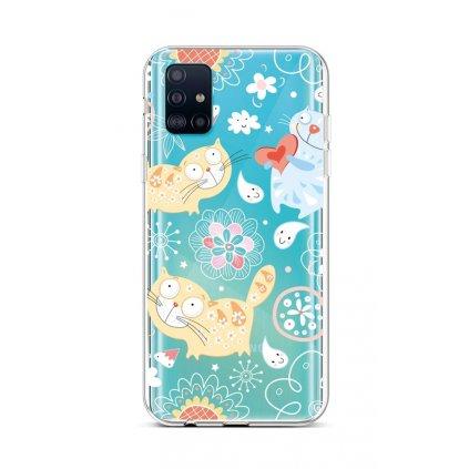 Zadný silikónový kryt na Samsung A51 Happy Cats