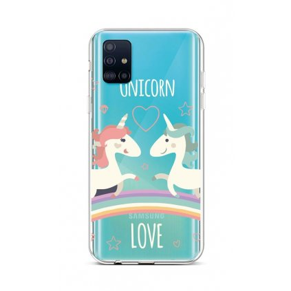 Zadný silikónový kryt na Samsung A51 Unicorn Love