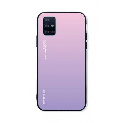 Zadný pevný kryt LUXURY na Samsung A51 dúhový ružový