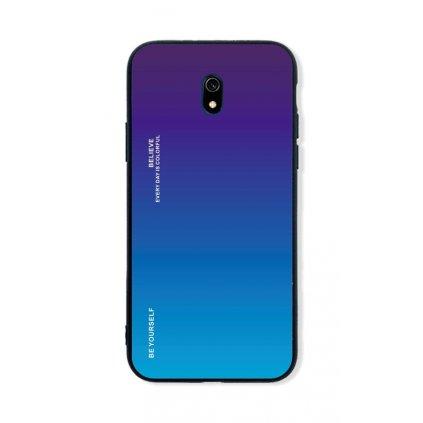 Zadný pevný kryt LUXURY na Xiaomi Redmi 8A dúhový purpurový