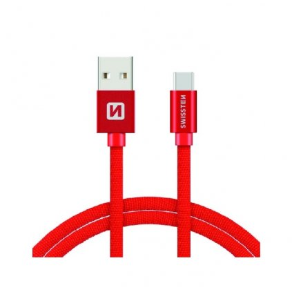 Dátový kábel Swissten microUSB 1,2m červený