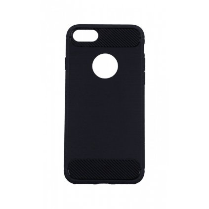 Zadný silikónový kryt na iPhone 8 čierny