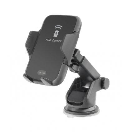 Držiak na mobil s funkciou bezdrôtového nabíjania Forcell SMART čierny