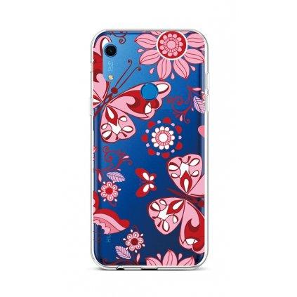 Zadný silikónový kryt na Huawei Y6s Pink Butterfly