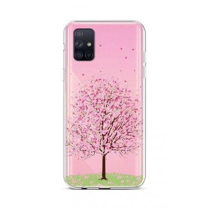 Zadný silikónový kryt na Samsung A71 Blossom Tree