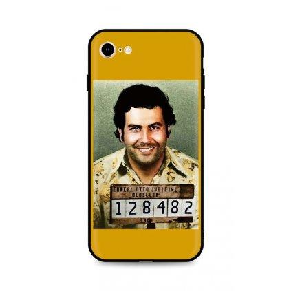Zadný silikónový kryt DARK na iPhone SE 2020 Pablo Escobar