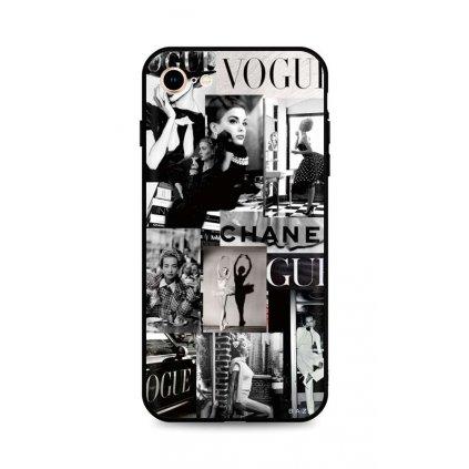 Zadný silikónový kryt DARK na iPhone SE 2020 Fashion