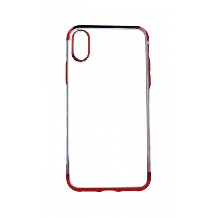 Zadný silikónový kryt na iPhone XS Frame červený
