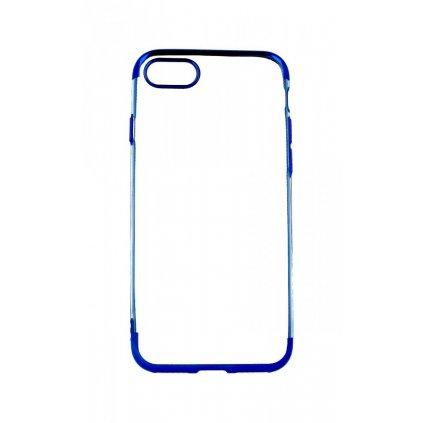 Zadný silikónový kryt na iPhone 8 Frame modrý