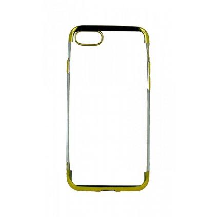 Zadný silikónový kryt na iPhone 8 Frame zlatý