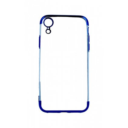 Zadný silikónový kryt na iPhone XR Frame modrý