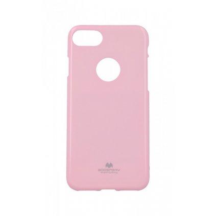Zadný silikónový kryt Mercury Jelly Case na iPhone 8 svetlo ružový