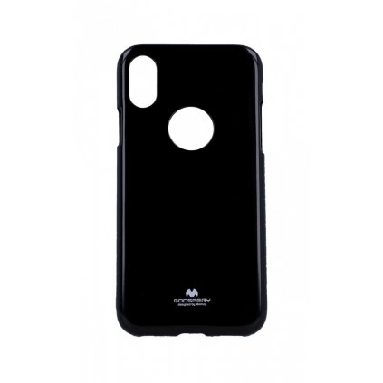 Zadný silikónový kryt Mercury Jelly Case na iPhone XS čierny
