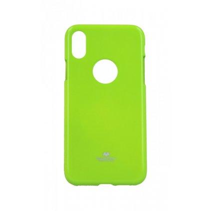 Zadný silikónový kryt Mercury Jelly Case na iPhone XS limetkový