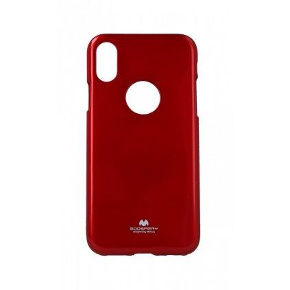 Zadný silikónový kryt Mercury Jelly Case na iPhone XS červený