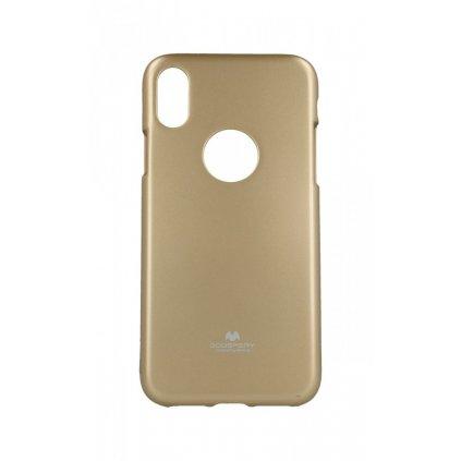 Zadný silikónový kryt Mercury Jelly Case na iPhone XS zlatý