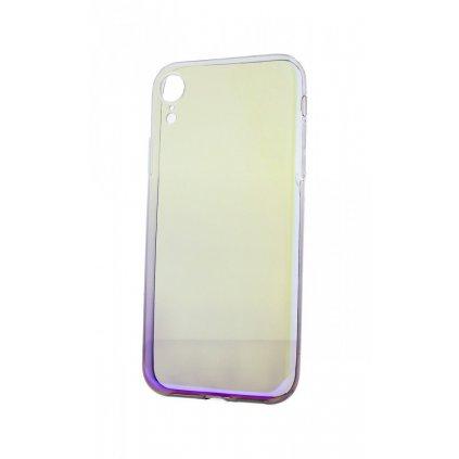 Zadný silikónový kryt na iPhone XR Ombre Glaze fialový tmavý