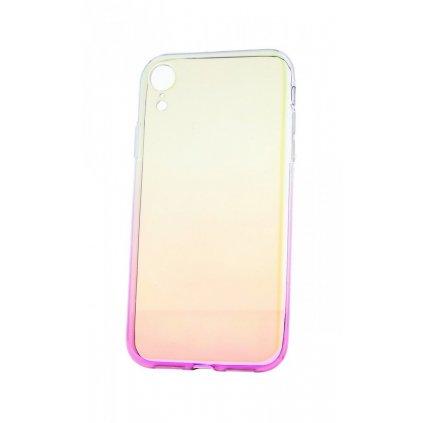 Zadný silikónový kryt na iPhone XR Ombre Glaze fialový