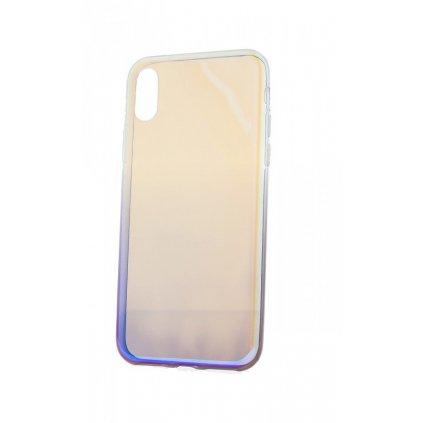 Zadný silikónový kryt na iPhone XS Ombre Glaze fialový tmavý