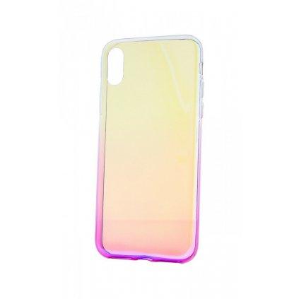 Zadný silikónový kryt na iPhone XS Ombre Glaze fialový