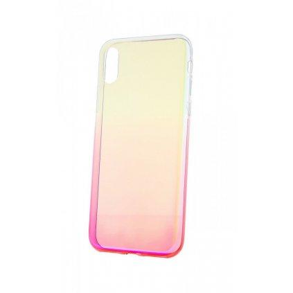 Zadný silikónový kryt na iPhone XS Ombre Glaze ružový