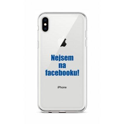 Zadný silikónový kryt na iPhone XS Nie som na Facebooku