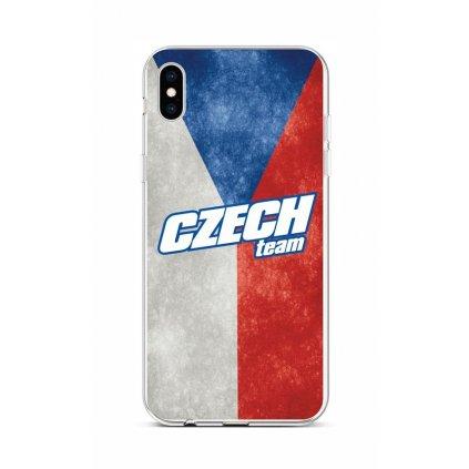 Zadný silikónový kryt na iPhone XS Czech Team