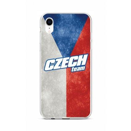 Zadný silikónový kryt na iPhone XR Czech Team