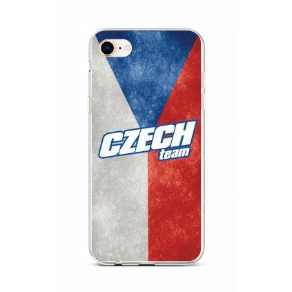 Zadný silikónový kryt na iPhone 8 Czech Team