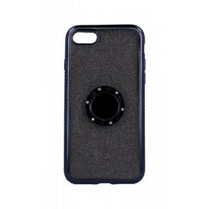 Zadný silikónový kryt na iPhone 8 Diamond čierny